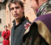 Pontus Plaenge som Hamlet (foto: Shakespeare på Gräsgården)