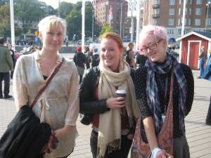 Moa Eriksson Sandberg, Johanna Persson och Lina Arvidsson.