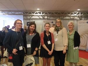 Marie, Anna Liv, Camilla, Emelie och Lina på bokmässan