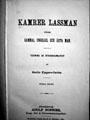 : Kamrer Lassman, såsom gammal ungkarl och äkta man - teckning ur stockholmslifvet